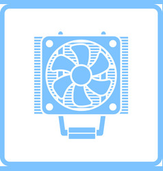 Cpu fan icon vector