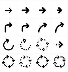 Technological arrows vector