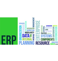Word cloud erp vector
