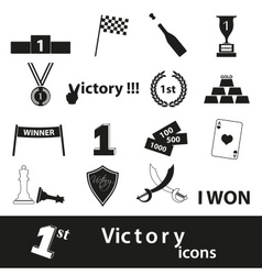 Flawless victory symbols set of icons eps10 vector
