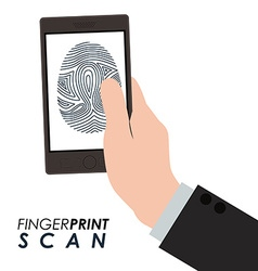 Fingerprint scan design vector