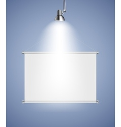 Background with lighting lamp and frame empty vector