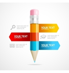 Pencil infographic education concept vector