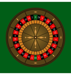 Roulette wheel icon vector