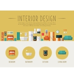 Interior design flat vector