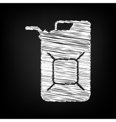 Jerrycan oil sign scribble effect vector