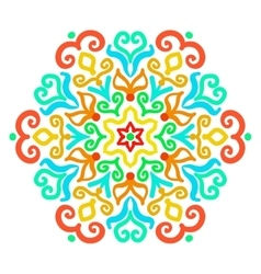 Bright hexagon ornament vector
