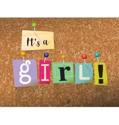 Its a girl concept vector