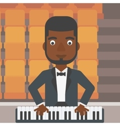 Musician playing piano vector
