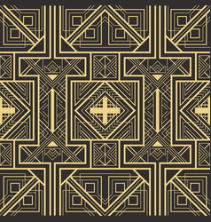 abstract art deco seamless pattern vector image vector image