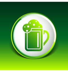 beer glass corporate identity logo isolated cold vector image