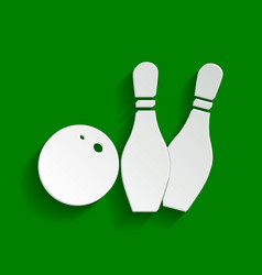 Bowling sign paper whitish vector