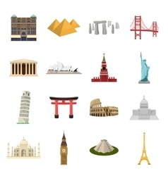 Countries set icons in cartoon style big vector