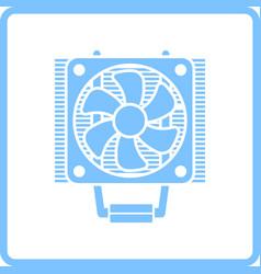 cpu fan icon vector image vector image