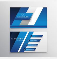 Elegant blue business card design vector