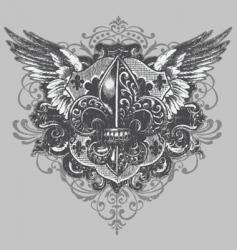 Fleur-de-lis crest vector image vector image