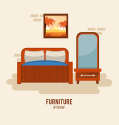 furniture home interior vector image