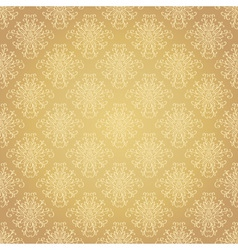 Golden festive seamless pattern vector image