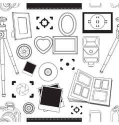 Hand drawn pattern set of photography vector