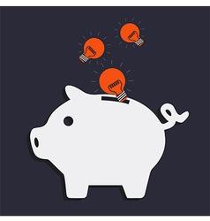 Idea pig bank vector