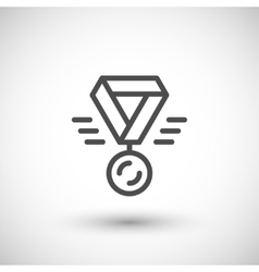 Medal line icon vector