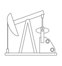 Oil pumpoil single icon in outline style vector
