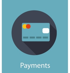 Online Payments Flat Concept vector image