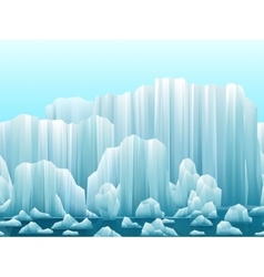 Parallax background of icebergs and sea vector
