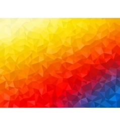 Polygonal Background for webdesign - yellow blue vector image vector image