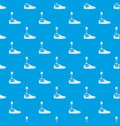 Prosthetic leg pattern seamless blue vector