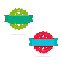 rosette with ribbon icons set isolated on vector image vector image