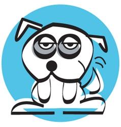 Sad mutt dog vector