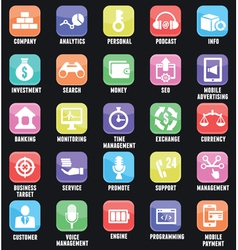 Set of social media buttons for design vector image