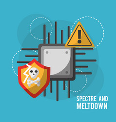 Spectre and meltdown motherboard circuit vector