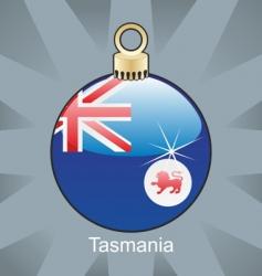 Tasmania flag on bulb vector image vector image