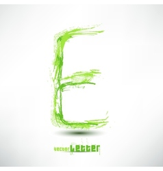 Drawn by hand letter grunge green grass wav vector