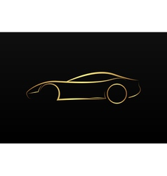 Golden car logo vector