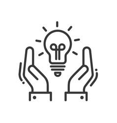 New idea or concept - modern line design vector