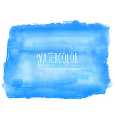 Hand painted blue watercolor stain background vector