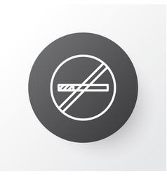 Smoking prohibited icon symbol premium quality vector