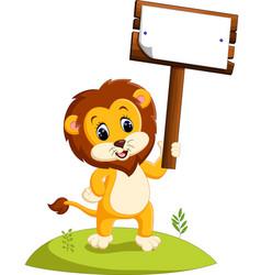 Cute cartoon lion vector
