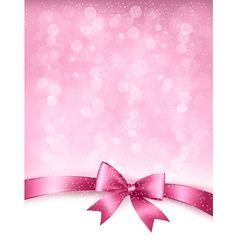 Holiday elegant background with gift glossy bow vector