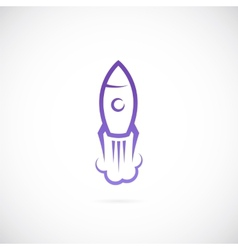 rocket symbol icon vector image