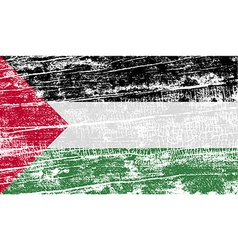 Flag of palestine with old texture vector