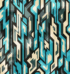 Blue technology seamless pattern with grunge vector