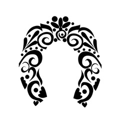 Abstract horseshoe vector