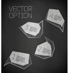 Abstract modern label vector