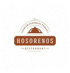 Restaurant cloche design element in vintage style vector