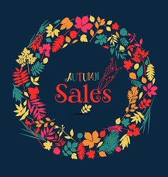 Autumn nature sale background vector