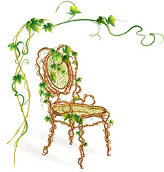 Viennese chair vector